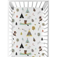 Sweet Jojo Designs Fitted Crib Sheet for the Outdoor Adventure Collection