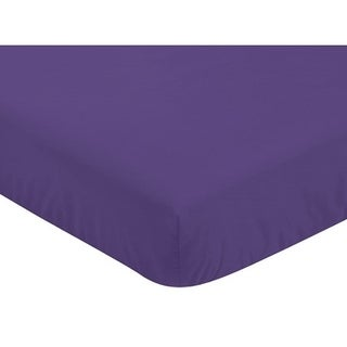 Sweet Jojo Designs Purple Fitted Crib Sheet for the Sloane Collection