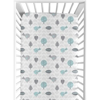 Sweet Jojo Designs Fitted Crib Sheet for the Earth and Sky Collection