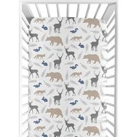 Sweet Jojo Designs Fitted Crib Sheet for the Woodland Animals Collection