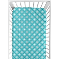 Sweet Jojo Designs Fitted Crib Sheet for the Mod Elephant Collection
