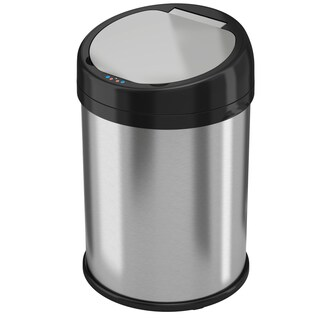 halo 8 Gallon Round Extra-Wide opening Stainless Steel Automatic Sensor Can (2 options available)