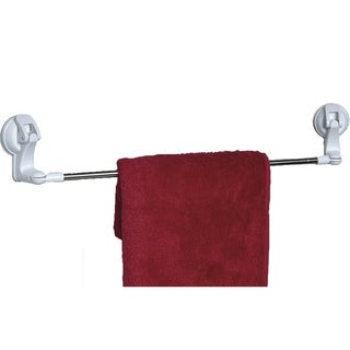 Evideco Wall Mounted Towel Bar with Swiveling Suction Corners