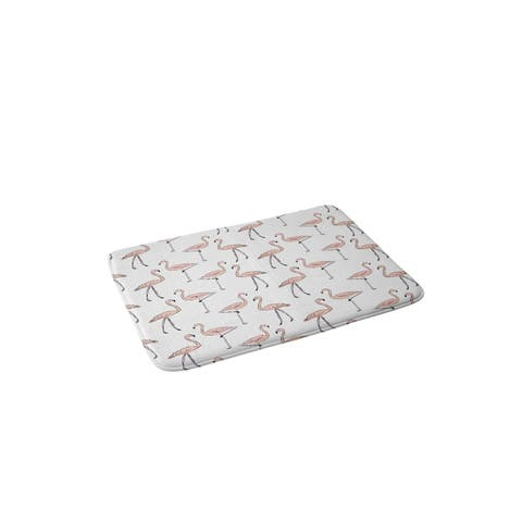 Allyson Johnson Fancy Flamingos Memory Foam Bath Mat