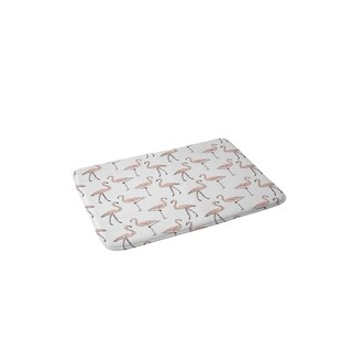 Allyson Johnson Fancy Flamingos Memory Foam Bath Mat