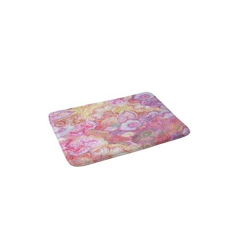 Stephanie Corfee Flourish Allover Girly Pinks Memory Foam Bath Mat