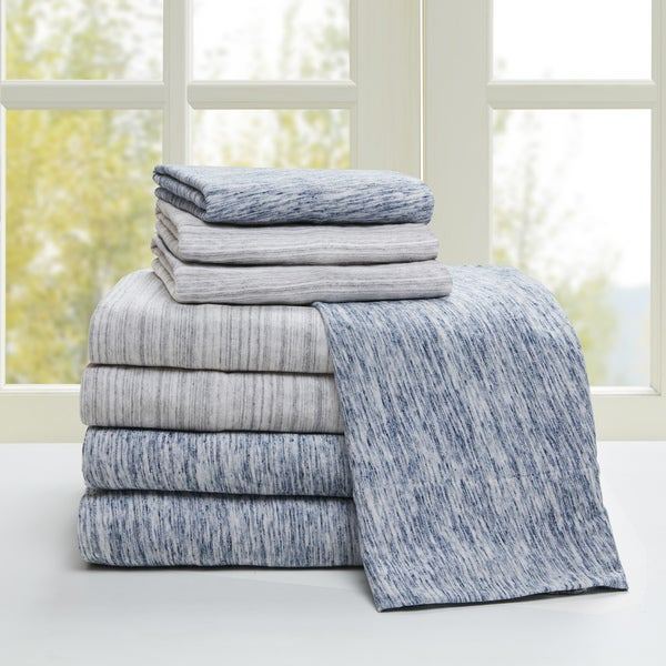 Space Dyed Cotton Jersey Knit Bed Sheet Set by Urban Habitat. Opens flyout.
