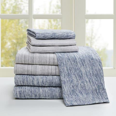 Urban Habitat Space Dyed Cotton Jersey Knit Bed Sheet Set