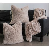 Chateau by Sheri Shag Faux Fur Pillow and Throw Set