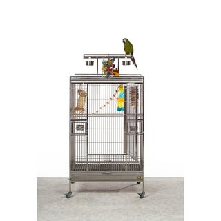 Prevue Pet Products Stainless Steel Playtop Bird Cage