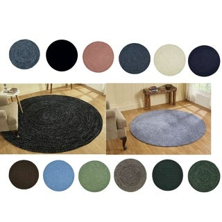 Chenille Reversible Braided Rug (8' Round)