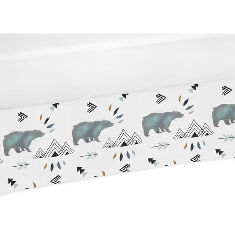 Sweet Jojo Designs Crib Bed Skirt for the Bear Mountain Collection