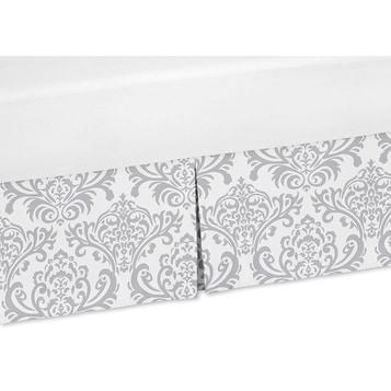 Shop Sweet Jojo Designs Gray And White Damask Crib Bed