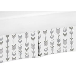 Sweet Jojo Designs Crib Bed Skirt for the Grey and White Mod Arrow Collection