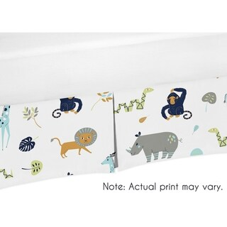 Sweet Jojo Designs Crib Bed Skirt for the Mod Jungle Collection