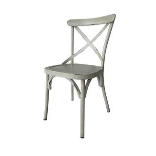 Villa Vintage White Aluminum Indoor/Outdoor Rustic Dining Chair (Set of 2)|https://ak1.ostkcdn.com/images/products/18118984/P24273410.jpg?impolicy=medium