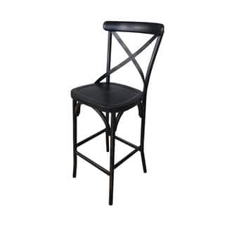 Villa Antique Black Aluminum Indoor/Outdoor Rustic Bar Height Stool (Set of 2)|https://ak1.ostkcdn.com/images/products/18118997/P24273408.jpg?impolicy=medium