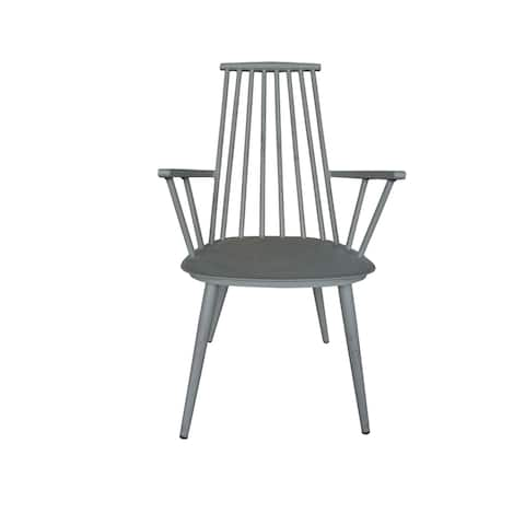 Hancock Aluminum Retro Grey Indoor/Outdoor Rustic Dining Chair (Set of 2)