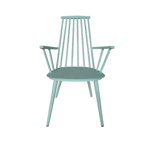 Hancock Aluminum Retro Blue Indoor/Outdoor Rustic Dining Chair (Set of 2)