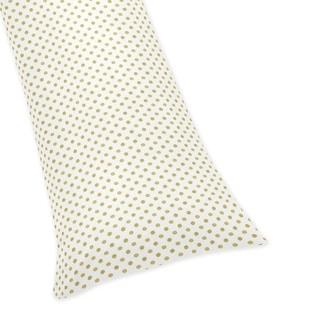 Sweet Jojo Designs Metallic Gold Polka Dot Body Pillow Case for the Amelia Collection