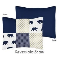 Sweet Jojo Designs Standard Pillow Sham for the Big Bear Collection