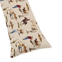 Sweet Jojo Designs Cowboy Print Body Pillow Case for the Wild West Collection