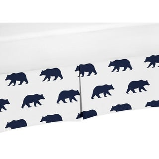 Sweet Jojo Designs Toddler Bed Skirt for the Big Bear Collection