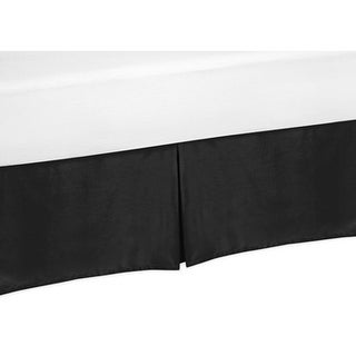 Sweet Jojo Designs Toddler Bed Skirt for the Black and White Chevron Collection
