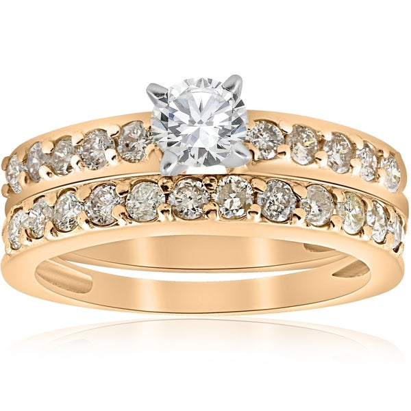 Shop Bliss 14k Yellow Gold 1 Ct TDW Diamond Engagement