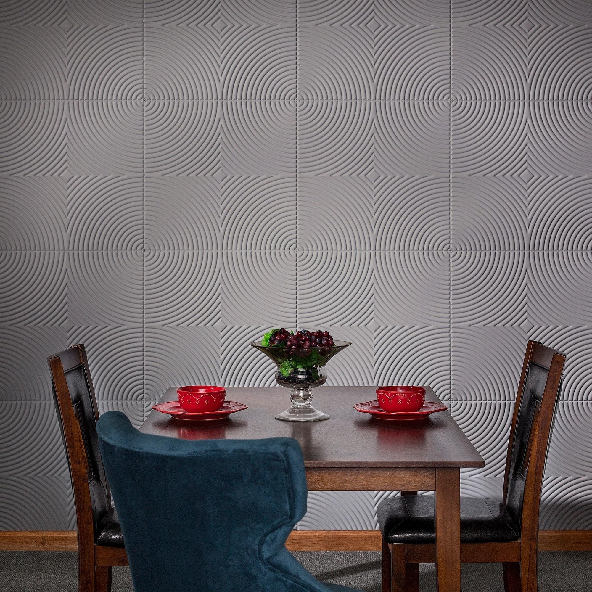 Fasade Echo Titanium Grey 4-foot x 8-foot Wall Panel (Gre...