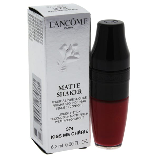 lancome matte shaker liquid lipstick 374 kiss me cherie 5