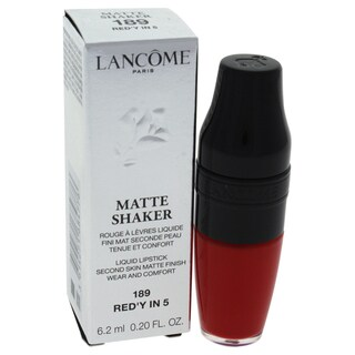 Lancome Matte Shaker Liquid Lipstick 189 Red'y In 5