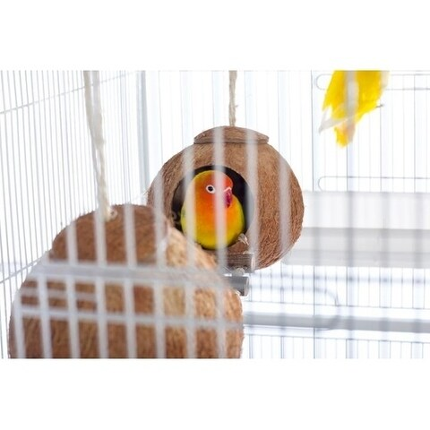 Prevue Pet Products Naturals Double Coconut Walk for Small Animals & Birds 62818