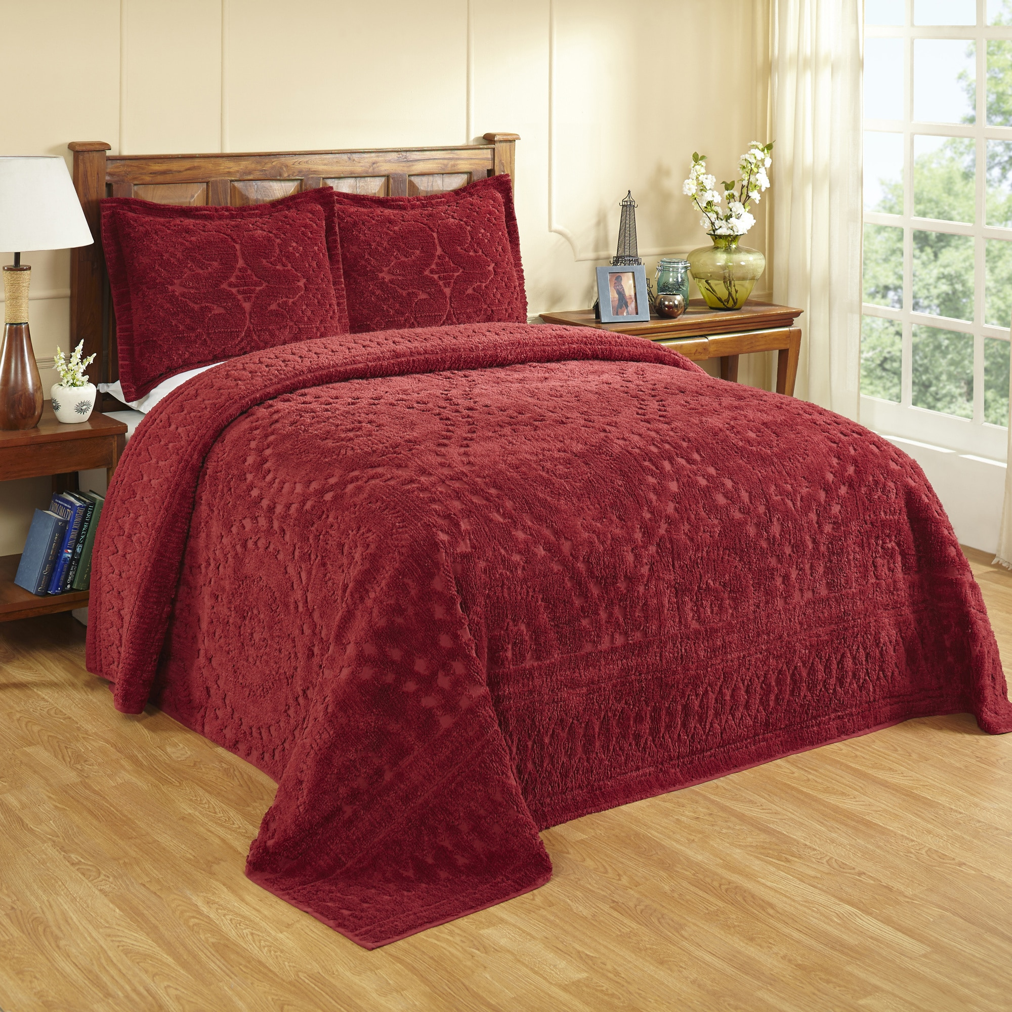 Shop Rio All Cotton Chenille Tufted Bedspread Or Sham