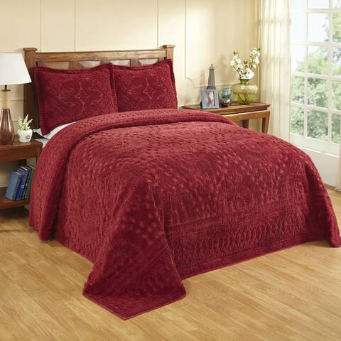 Rio All Cotton Chenille Tufted Bedspread or Sham
