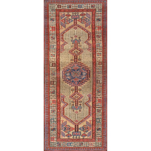 "Pasargad Antique Camel/Red Serab Hand-Knotted Wool Runner (2'10"" X 6' 6"")"