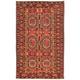 """Pasargad Bakhtiari Collection Hand-Knotted Multi Woo Rug (6' 8"""" X 10' 6"""") - 7' x 11'"""