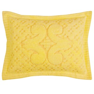 Ashton 100-percent Cotton Chenille Super Soft and Plush Bedspread (Option: Yellow - Standard Sham)