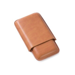 Santino Cigar Case-Tan