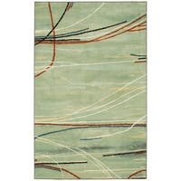 "Mohawk Home Aurora Broken Stripe Area Rug (7'6x10') - 7'6"" x 10'"