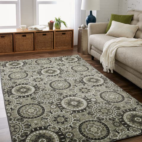 Copper Grove Bamur Medallion Patterned Area Rug