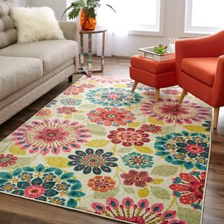 Link to Mohawk Prismatic Floral Dream Multicolor Area Rug (8' x 10') Similar Items in Patterned Rugs
