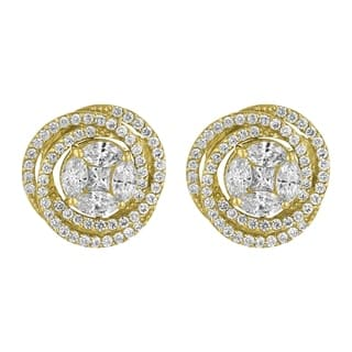 14k Yellow Gold 2.45 Carat Swirling Stud Earrings - White|https://ak1.ostkcdn.com/images/products/18121754/P24275821.jpg?impolicy=medium