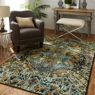 Silver Orchid Barker Indoor Abstract Area Rug - 8' x 10'