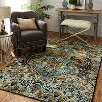 Silver Orchid Hinding Indoor Abstract Area Rug - 8' x 10'