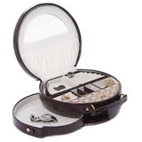 Brown Two Tone Jewelry Case
