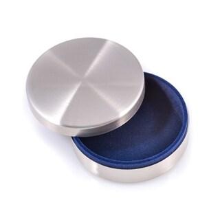 Stainless Steel Round Keepsake Box