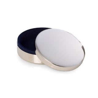 Silver Plated Round Keepsake Box