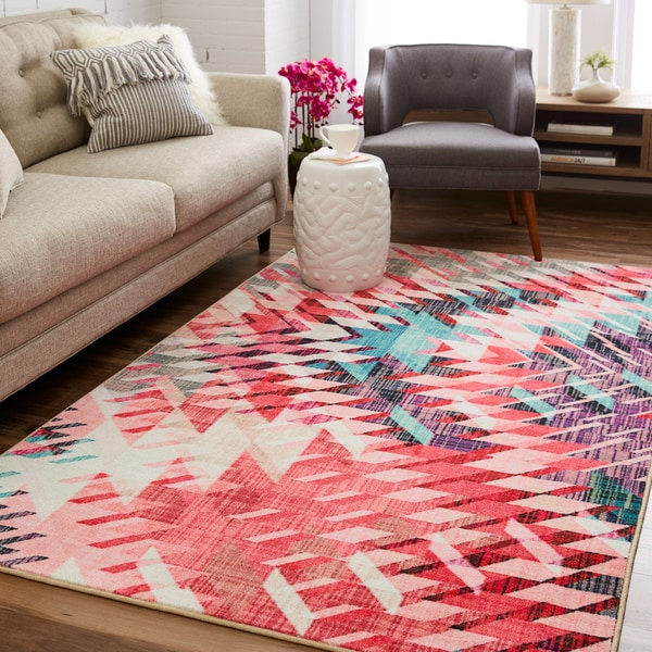Mohawk Prismatic Splice Geometric Contemporary Area Rug - 8\' x 10 ...