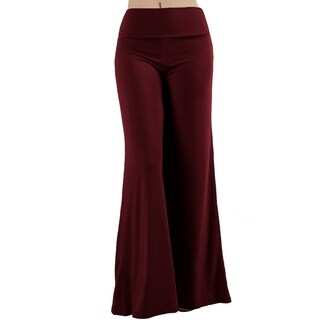 JED Women's Wide Leg Stretchy Solid Palazzo Pants